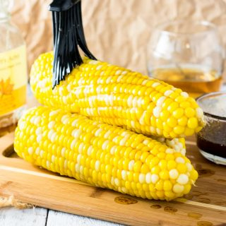 Browned Butter Maple Bourbon Corn on the Cob