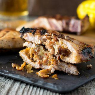 Gouda and Bacon Stuffed Pork Chops