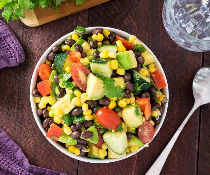 How to Make Avocado Black Bean Salad