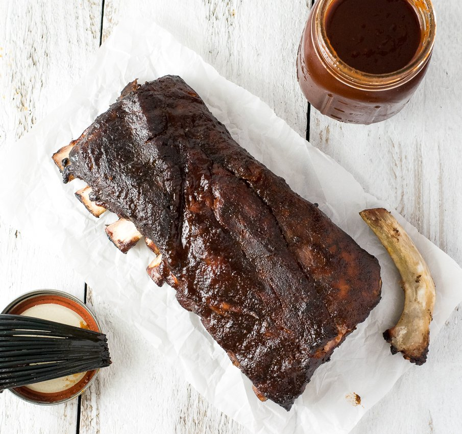 Smoked Cherry BBQ Sauce Ribs Recipe