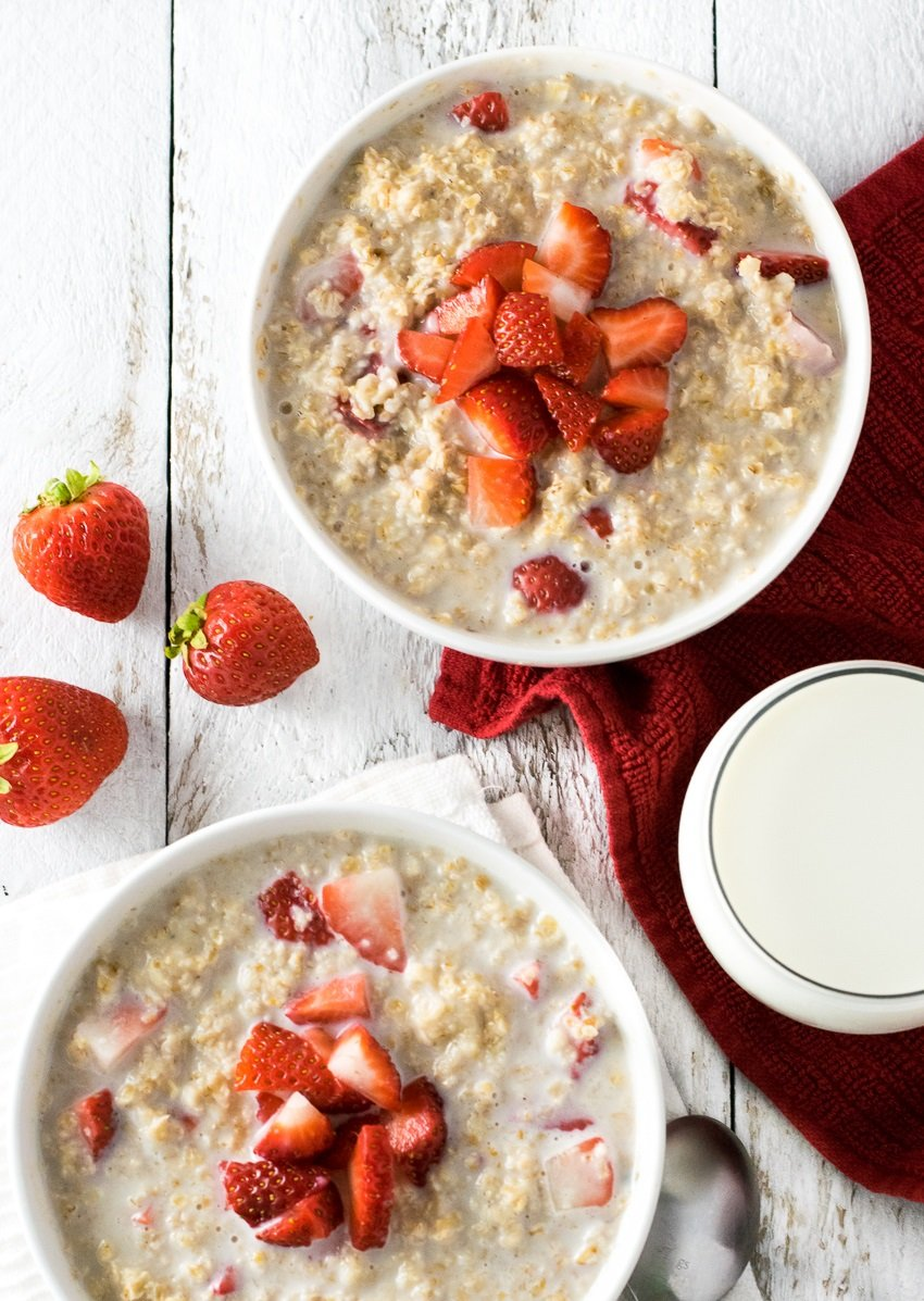 Strawberries and Cream Oatmeal Recipe