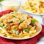 Sundried Tomato Alfredo with Parmesan Crusted Chicken