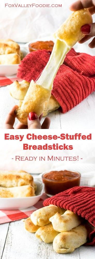 Easy Cheese-Stuffed Breadsticks recipe