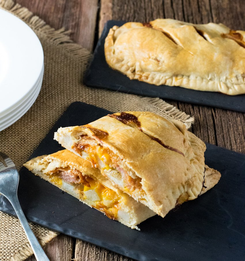 Ham Cheese and Potato Cornish Pasty