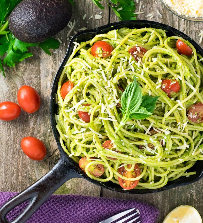 healthy avocado pasta   fox valley foodie