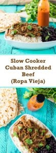 Slow Cooker Cuban Shredded Beef - Ropa Vieja recipe
