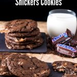Triple Chocolate Snickers Cookies