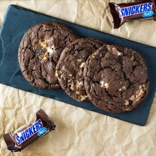 Triple Chocolate Snickers Cookies Recipe