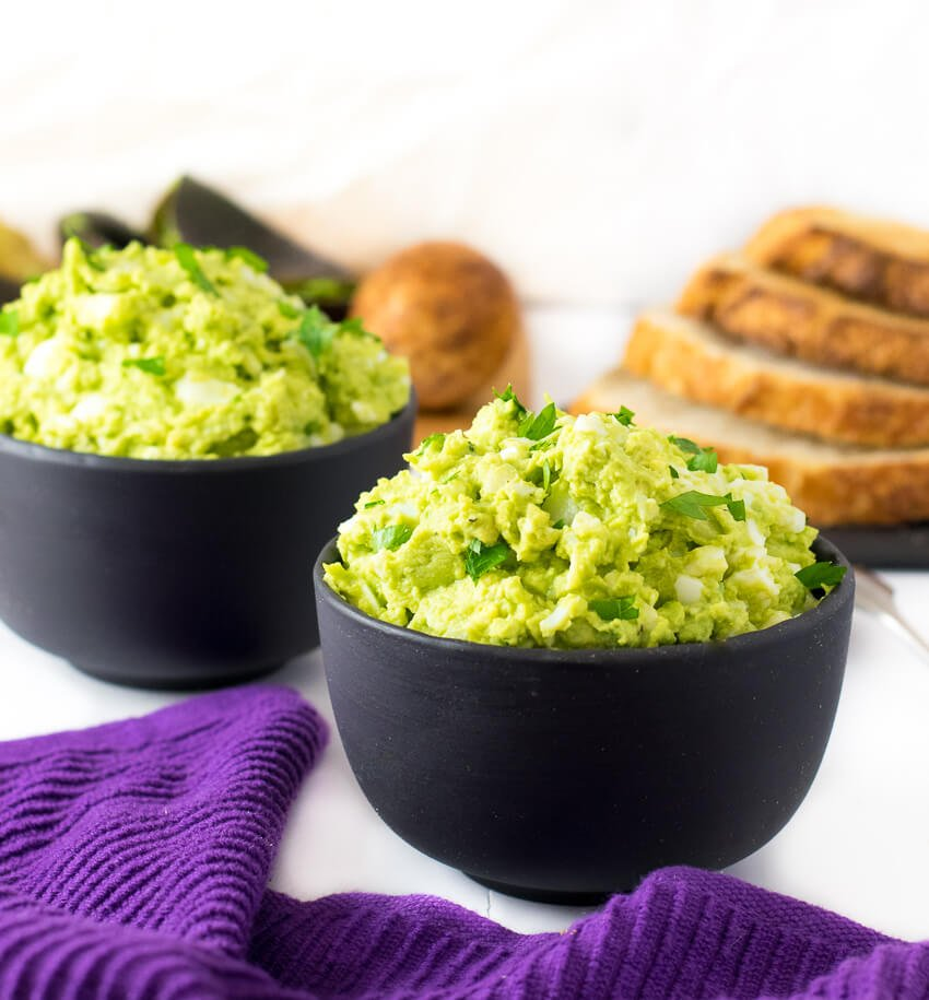 Avocado Egg Salad in bowls