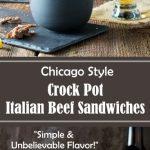 Chicago Style Crock Pot Italian Beef Sandwiches Recipe