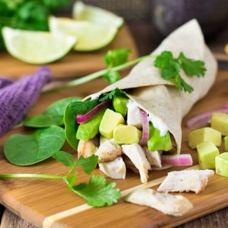 Cilantro Lime Chicken Wrap Recipe