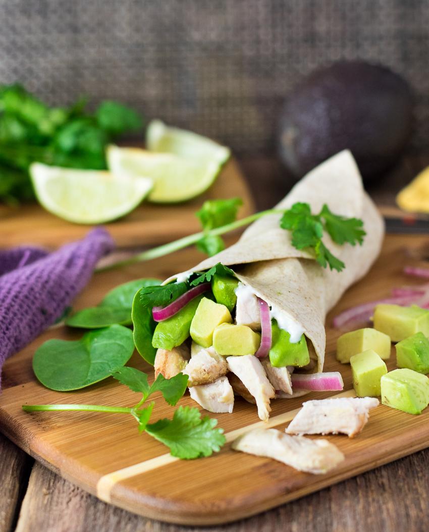 Cilantro Lime Chicken Wrap