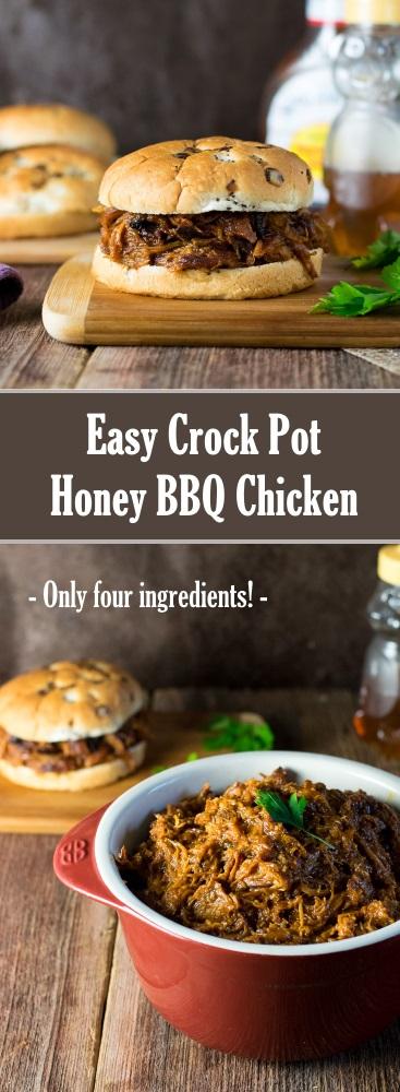 Easy Crock Pot Honey BBQ Chicken Recipe