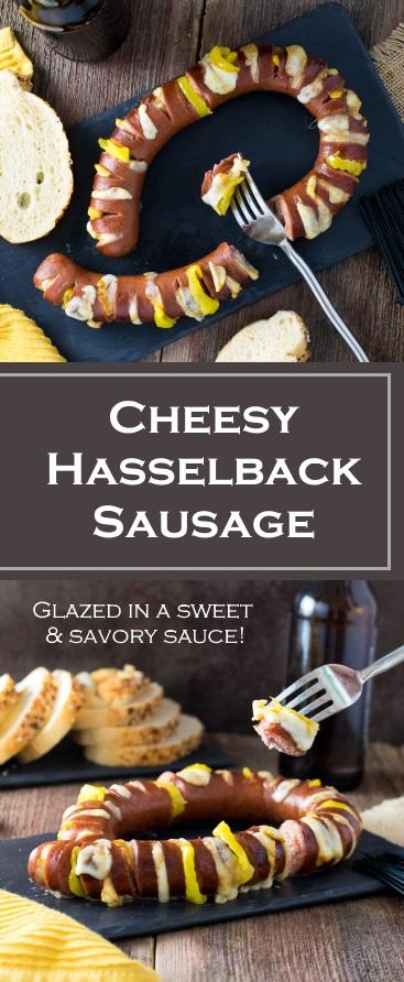 Cheesy Hasselback Sausage recipe