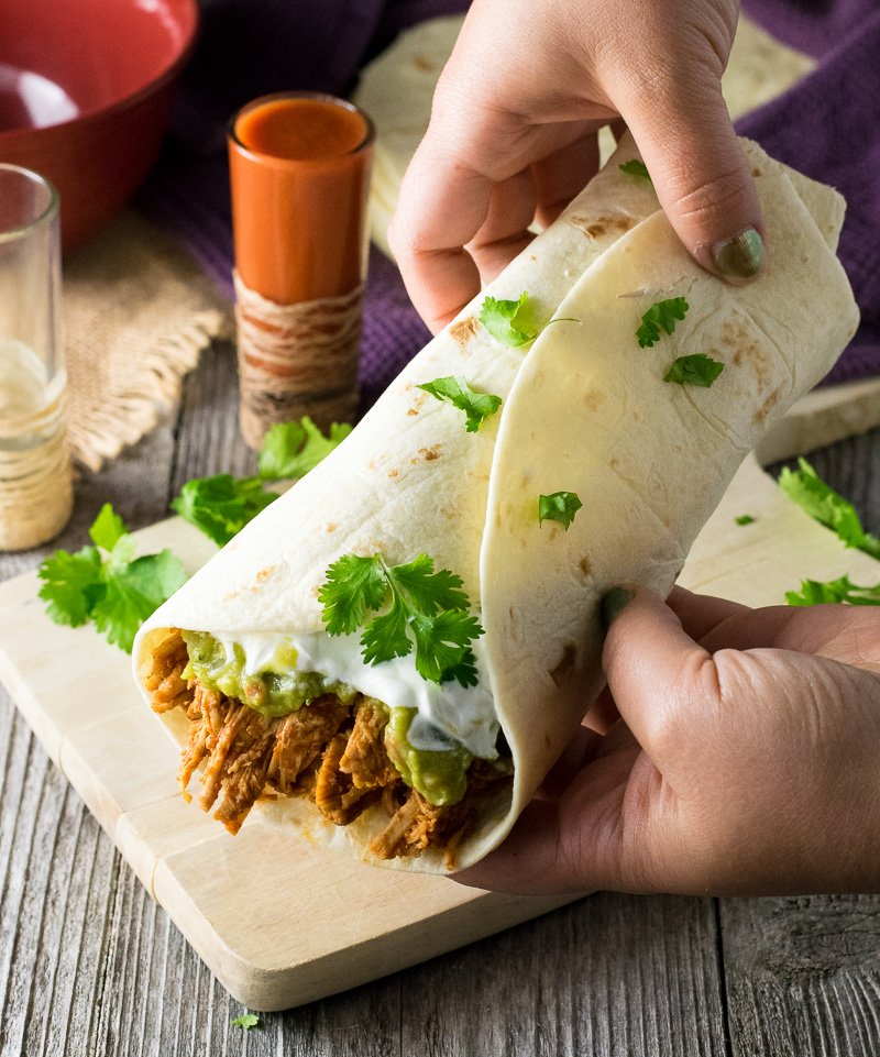 Shredded Chicken Burrito