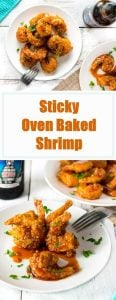 Sticky Oven Baked Shrimp recipe #shrimp #baked