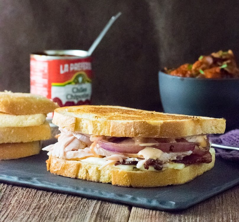 Sourdough Bacon Turkey Panini with Chipotle Mayo