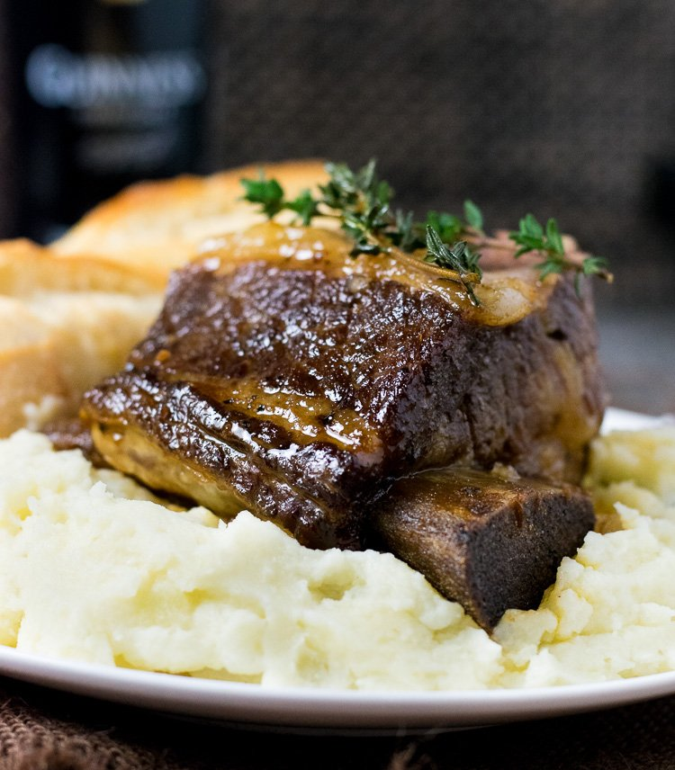 Beer Braised Short Ribs Dutch Oven