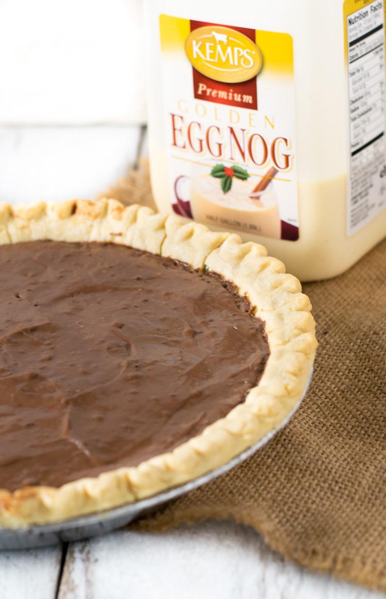Chocolate Eggnog Pie Kemps