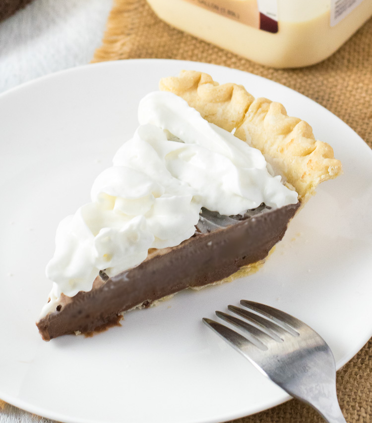 Chocolate Eggnog Pie - Fox Valley Foodie