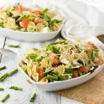 Asparagus and Brie Warm Pasta Salad