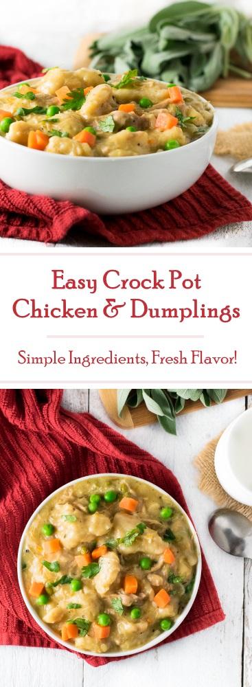 Easy Crock Pot Chicken and Dumplings recipe