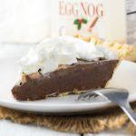 Eggnog Chocolate Pie