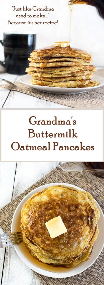 Grandma's Buttermilk Oatmeal Pancakes Recipe