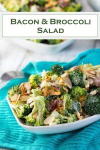 Broccoli Salad with Bacon recipe #salad #potluck