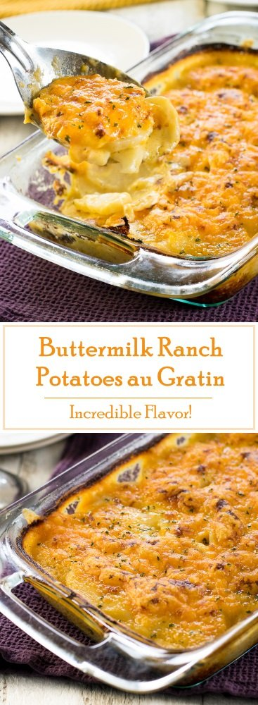 Buttermilk Ranch Potatoes au Gratin recipe