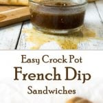 Easy Crock Pot French Dip Sandwiches recipe