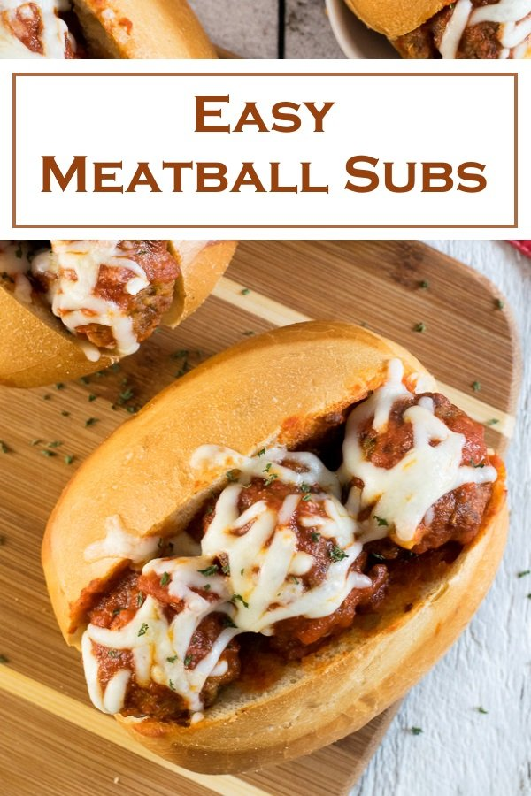 Easy Meatball Subs recipe #meatballs #italian #sandwich #lunch