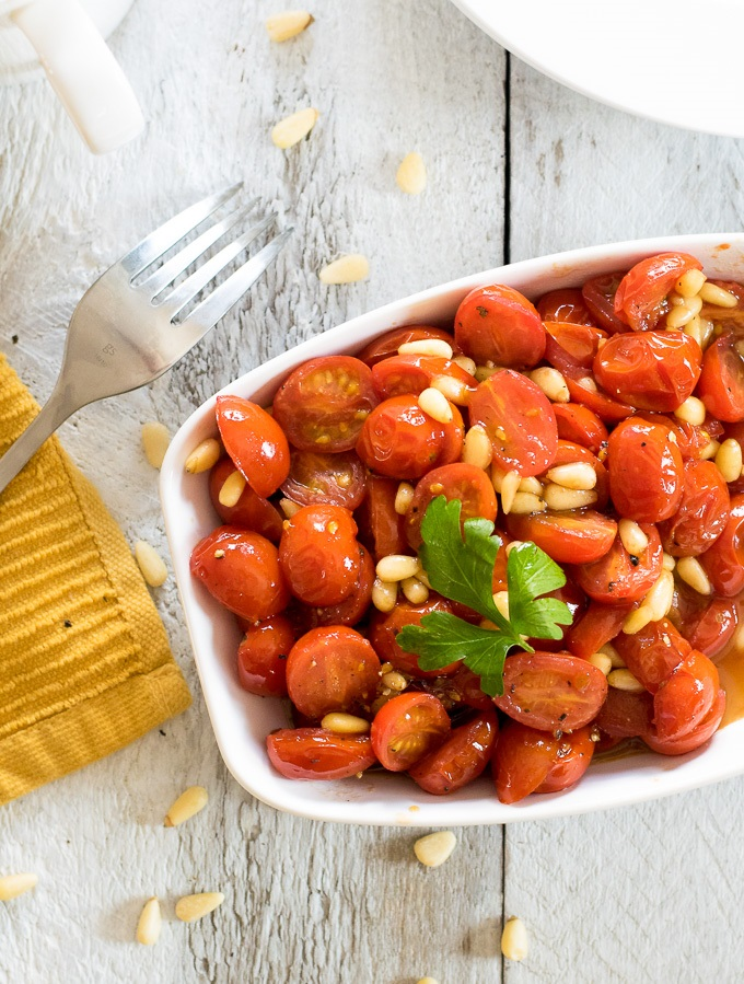 Balsamic and Honey Skillet-Glazed Cherry Tomatoes recipe