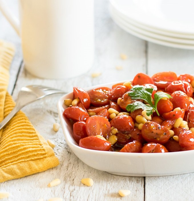 Balsamic and Honey Skillet-Glazed Cherry Tomatoes