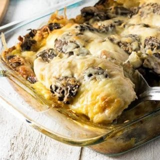 Portobello Swiss Chicken Bake
