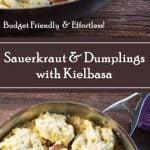 Sauerkraut and Dumplings with Kielbasa recipe