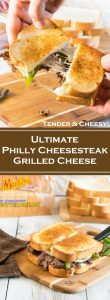 Ultimate Philly Cheesesteak Grilled Cheese