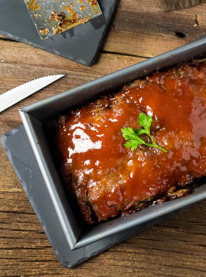 Glazed brown sugar meatloaf