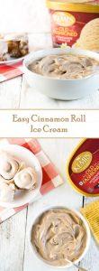 Easy Cinnamon Roll Ice Cream Recipe
