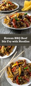 Korean BBQ Beef Stir Fry with Noodles recipe