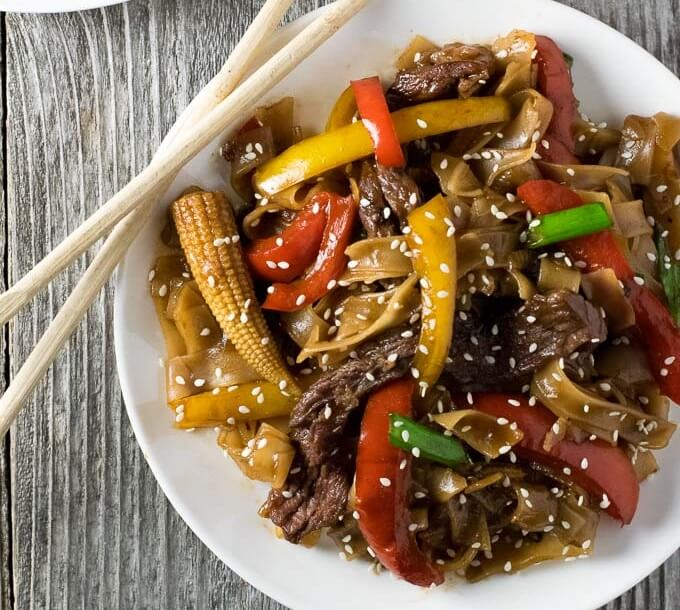 Korean BBQ Beef Stir Fry with Noodles - Fox Valley Foodie