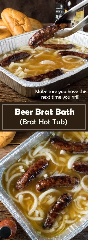Beer Brat Bath - Brat Hot Tub recipe