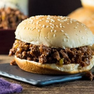 Close up Sloppy Joes