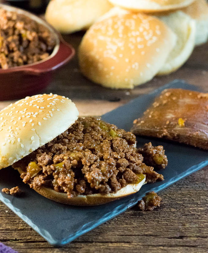 Homemade Sloppy Joes on bun