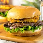 Caribbean Pork Burger with Grilled Pineapple