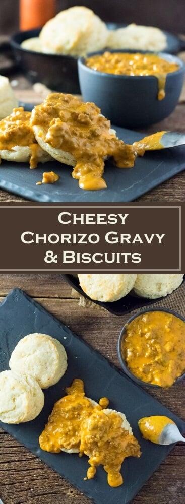 Cheesy Chorizo Gravy and Biscuits recipe
