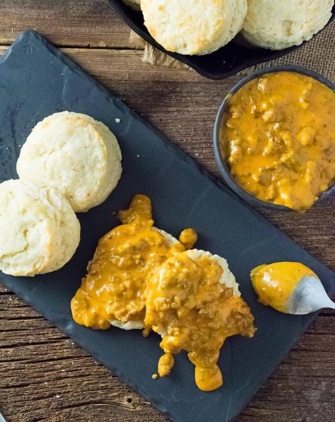 Chorizo Biscuits and Gravy