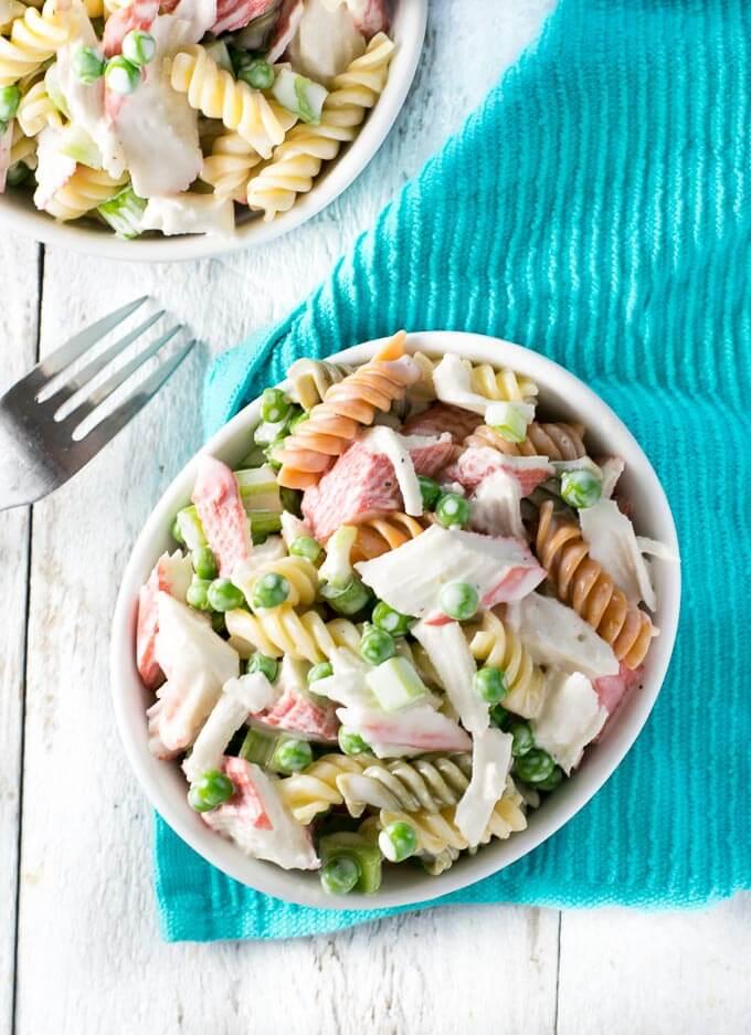 Classic Crab Pasta Salad