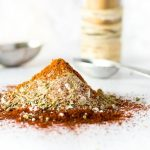 Homemade taco seasoning close up