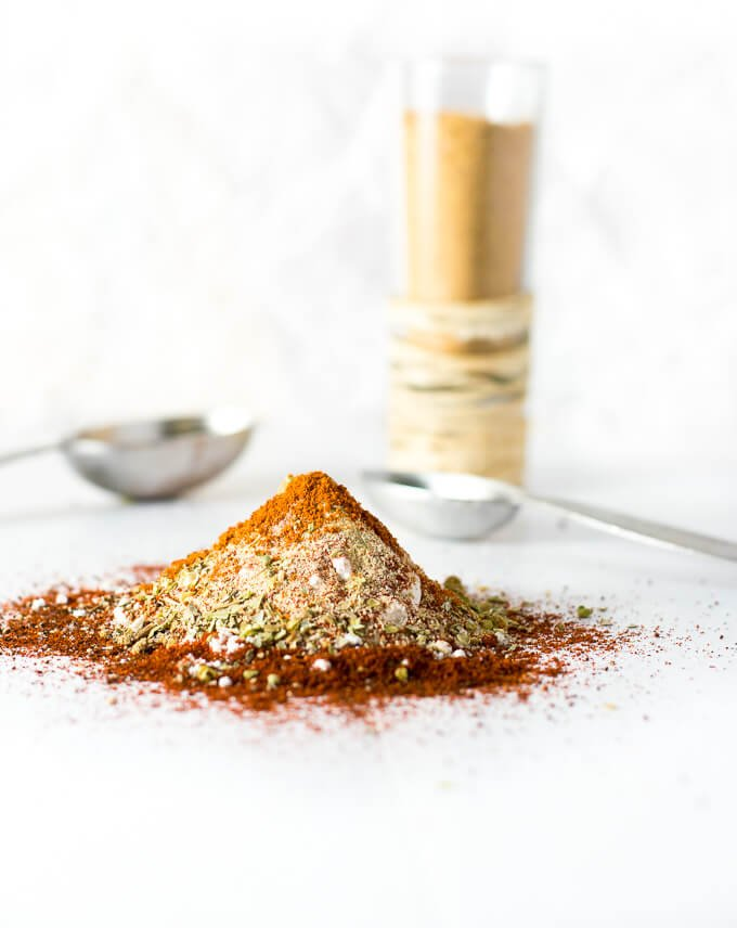 Homemade Taco Seasoning Mix in a pile